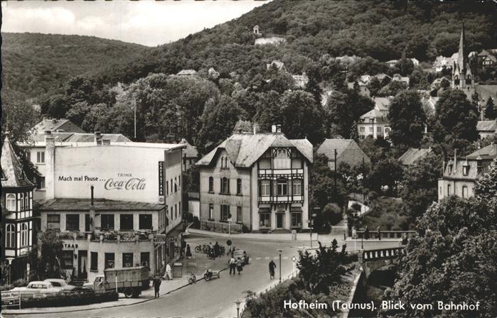 Hofheim Taunus blick vom Bahnhof Kat. Hofheim am Taunus