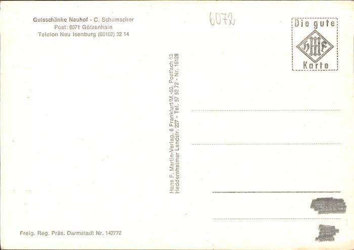 Neu Isenburg Gutsschaenke Neuhof Kat. Neu Isenburg Nr. pw14855 ...