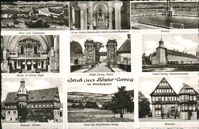 Corvey Rathaus Dechanei Freibad Schloss Corvey Kat. Hoexter