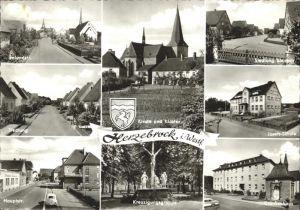 Herzebrock Josefs Schule Wappen Kirche Kloster Krankenhaus Kreuzigungsgruppe Kat. Herzebrock-Clarholz
