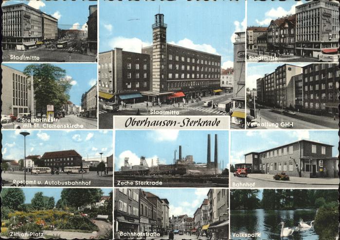 Oberhausen Sterkrade Verwaltung GHH Zeche Sterkrade Bahnhofstrasse Kat. Oberhausen