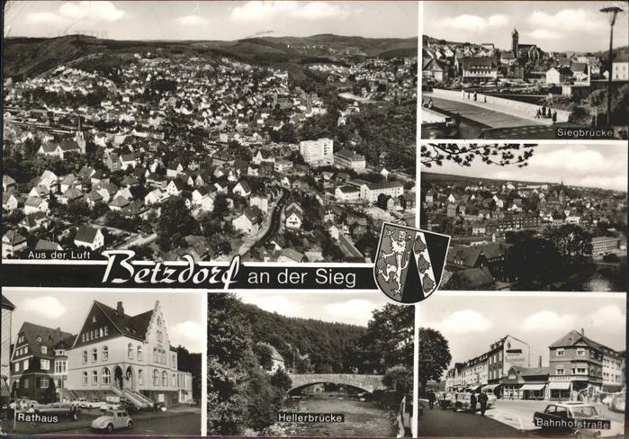 Betzdorf Sieg Bahnhofstrasse Rathaus Siegbruecke Kat. Betzdorf
