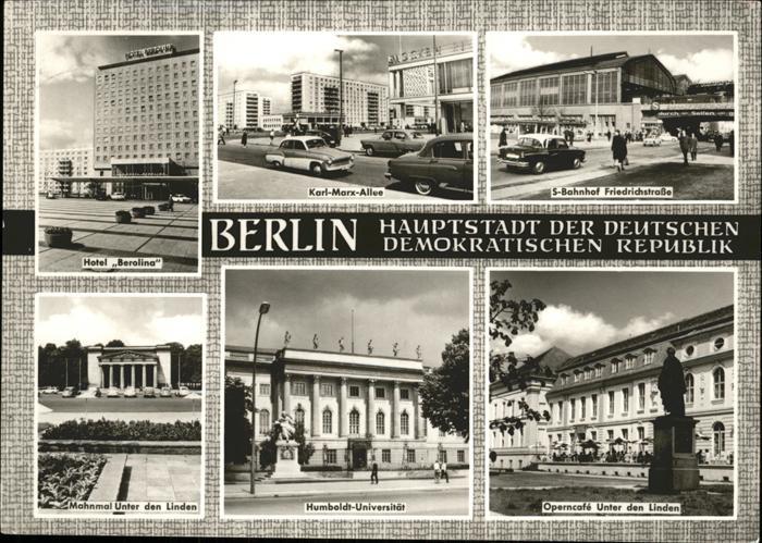 pw24112 Berlin Humboldt Uni Operncafe Mahnmal unter den Linden Bahnhof Friedrichstrasse  Kategorie. Berlin Alte Ansichtskarten