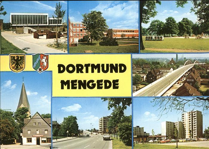 Mengede Hochhaeuser Wappen Bruecke Kat. Dortmund
