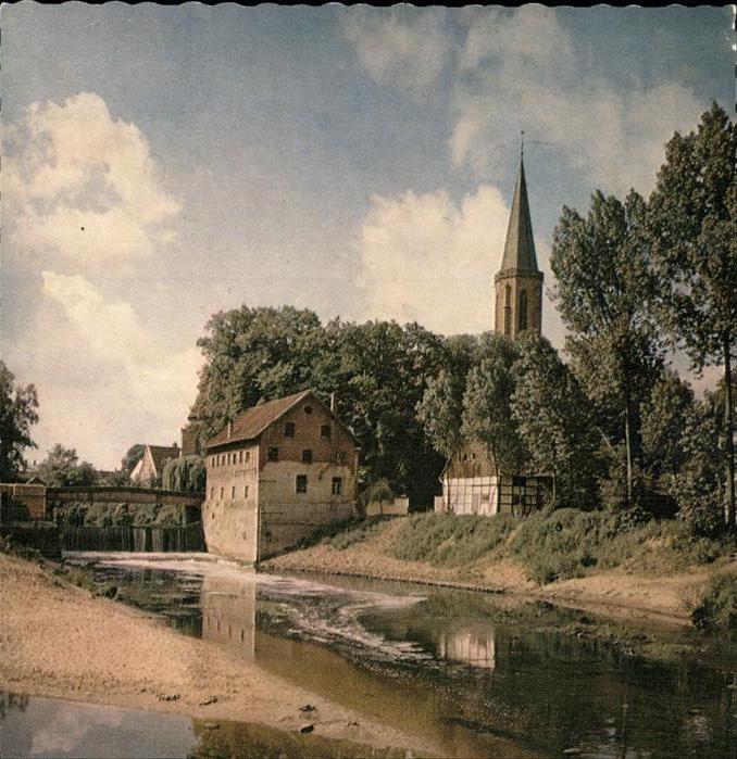 Telgte Warendorf Ems Wasserfall Kirche Kat. Telgte
