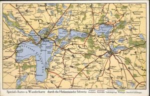 Ploen See Spezial Auto Wanderkarte Holsteinische Schweiz / Ploen /Ploen LKR