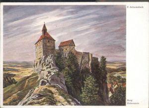 Hohenstein-Ernstthal Burg Hohenstein Kuenslerkarte f. Schwimbeck / Hohenstein-Ernstthal /Zwickau LKR