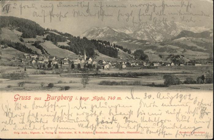 Burgberg Allgaeu  / Burgberg i.Allgaeu /Oberallgaeu LKR
