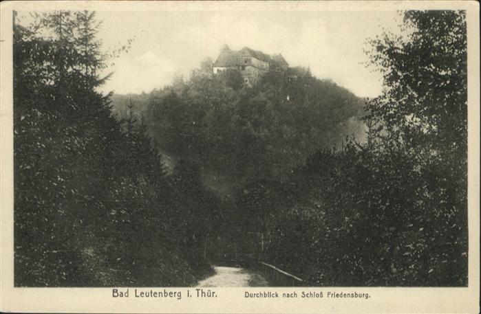 Leutenberg Thueringen Schloss Friedensberg / Leutenberg /Saalfeld-Rudolstadt LKR