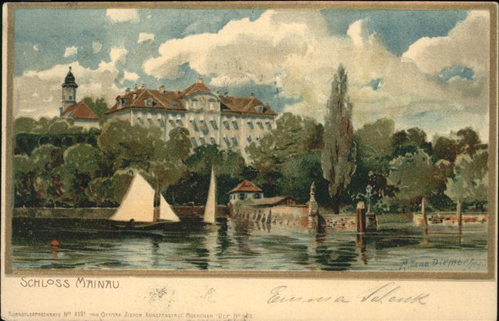 wx48110 Diemer Zeno Litho Schloss Kuenstler Zeno Diemer Kategorie. Kuenstler Alte Ansichtskarten