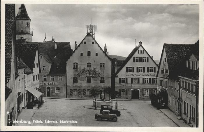 Graefenberg Oberfranken Marktplatz Gasthof zum roten Ochsen