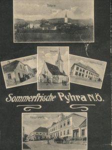 Pyhra Kirche Volksschule  Kat. Pyhra