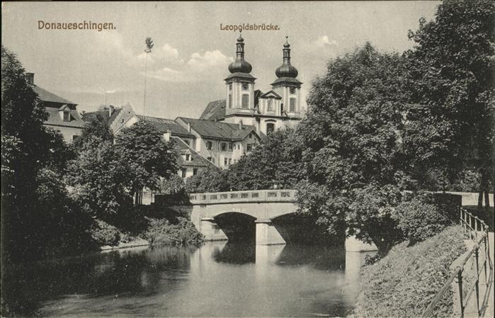 Donaueschingen Leopoldsbruecke Kat. Donaueschingen