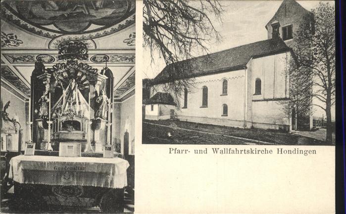 Hondingen Pfarr- u. Wallfahrtskirche Kat. Blumberg