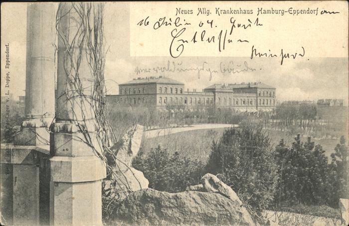 Eppendorf Hamburg Neues Allg. Krankenhaus Kat. Hamburg