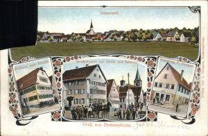 Deckenpfronn Rathaus Handlung c Dongus Gasthaus Zum Roessle Kat. Deckenpfronn
