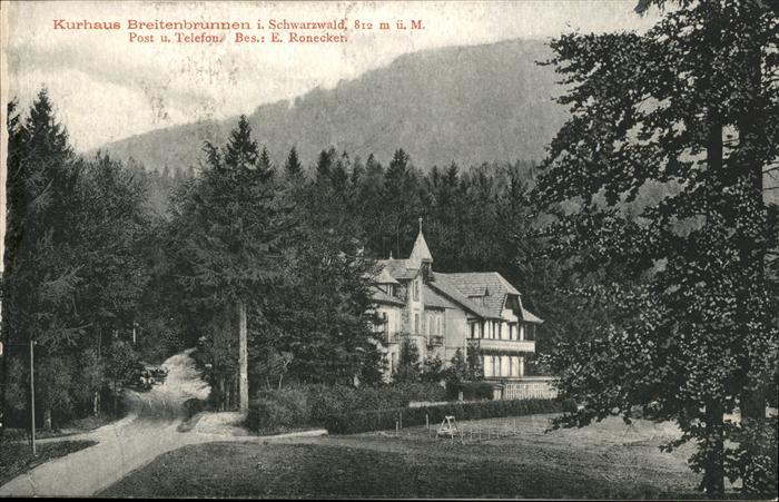 Breitenbrunnen Kurhaus Kat. Sasbachwalden