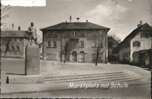 Bechtheim Rheinhessen Marktplatz Schule / Bechtheim /Alzey-Worms LKR