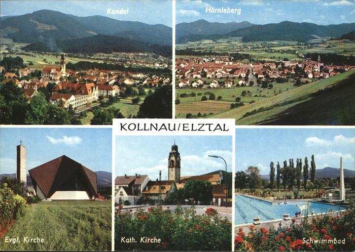 Kollnau Evang. Kirche Kath. Kirche Schwimmbad Kat. Waldkirch