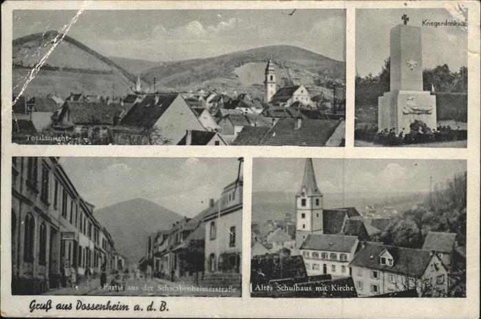 Dossenheim Altes Schulhaus Kirche Kat. Dossenheim