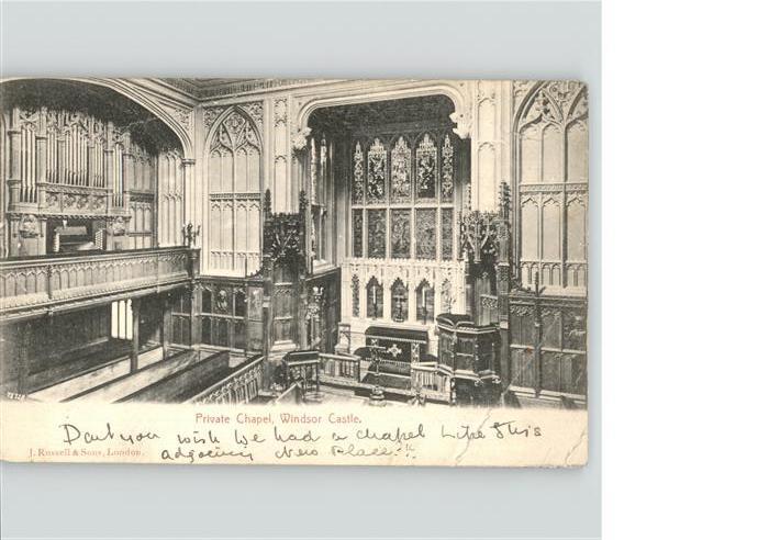 wz22063 Windsor Castle Private Chapel, Windsor Castle Kategorie. United Kingdom Alte Ansichtskarten