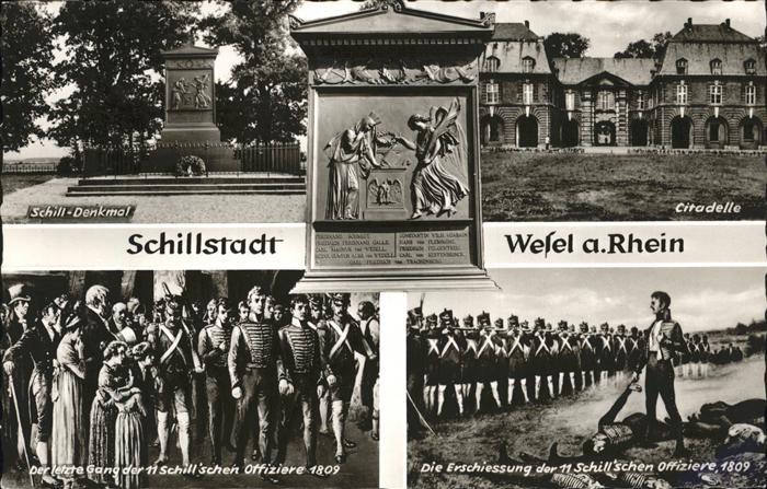 Wesel Rhein Schillstadt Schilldenkmal Citadelle Kat. Wesel