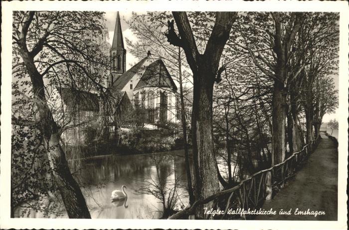 Telgte Warendorf Kirche Emshagen Schwan Kat. Telgte