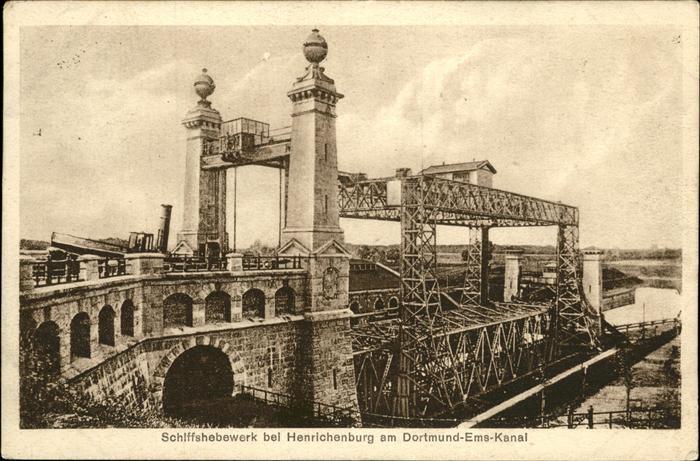 Henrichenburg Schiffshebewerk Schiffshebewerk / Waltrop /Recklinghausen LKR
