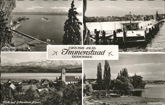 Immenstaad Bodensee Landungssteg  Kat. Immenstaad am Bodensee