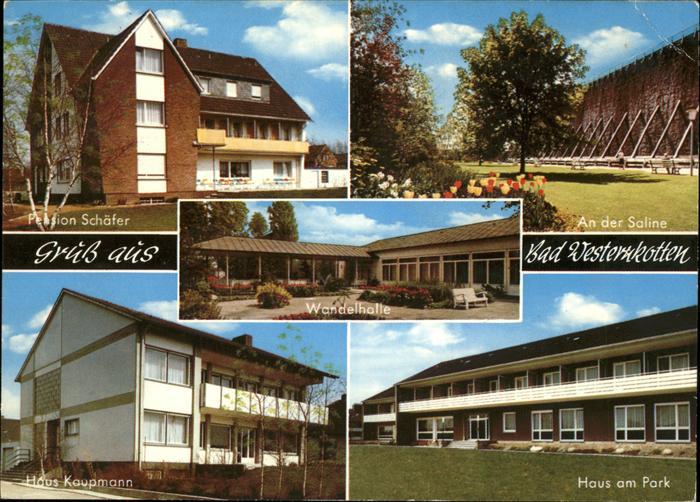 Bad Westernkotten Saline Haus am Park Haus Kaupmann Pension Schaefer Kat. Erwitte