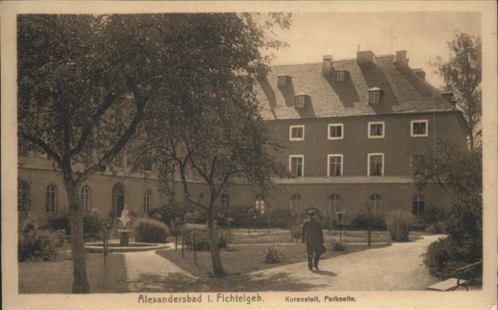 Bad Alexandersbad Kuranstalt Parkseite Fichtelgebirge Kat. Bad Alexandersbad