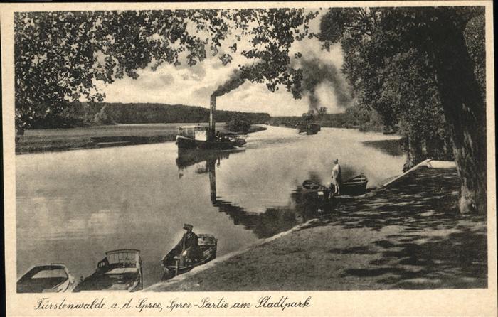 Fuerstenwalde Spree Dampfer Boot Kat. Fuerstenwalde
