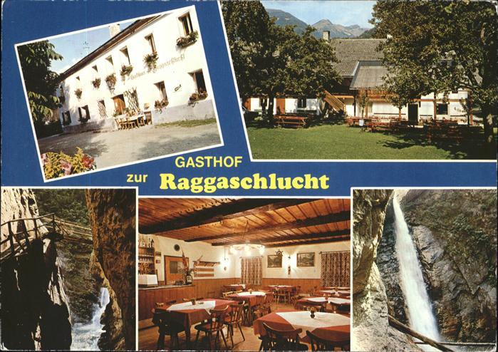 Flattach Gasthof Pension Raggaschlucht Kat. Flattach
