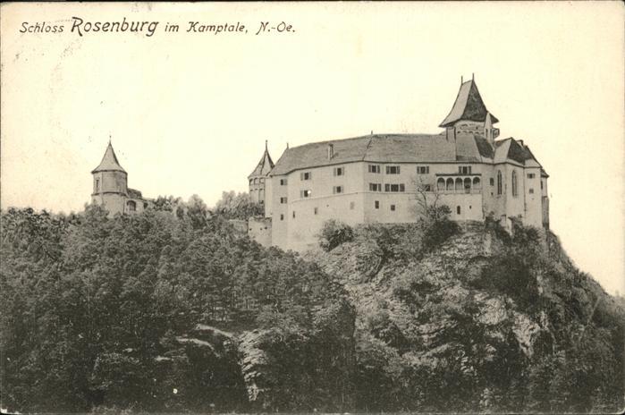 Rosenburg Mold Schloss Rosenburg Kamptale Kat. Rosenburg Mold