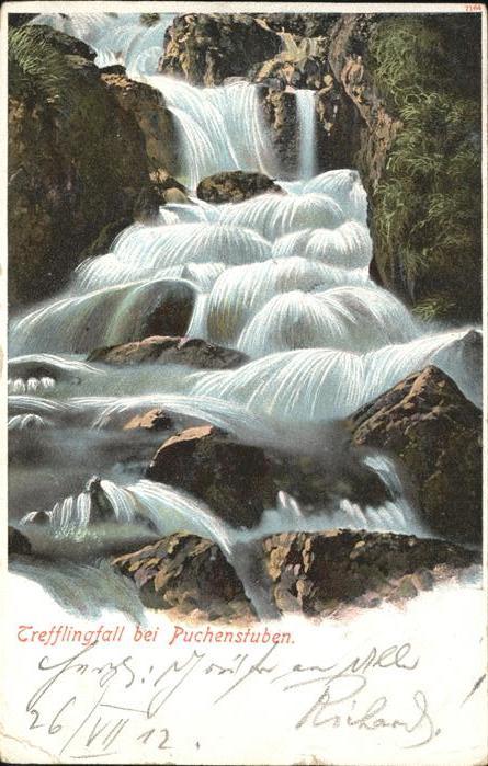 Puchenstuben Trefflingfall Wasserfall Kat. Puchenstuben
