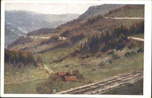 Winterbach Niederoesterreich Bahnserpentinen K. Ludwig Prinz Kuenstlerkarte Kat. St. Anton an der Jessnitz