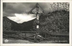 Lunz See Niederoesterreich Stimmungsbild Kreuz / Lunz am See /Mostviertel-Eisenwurzen