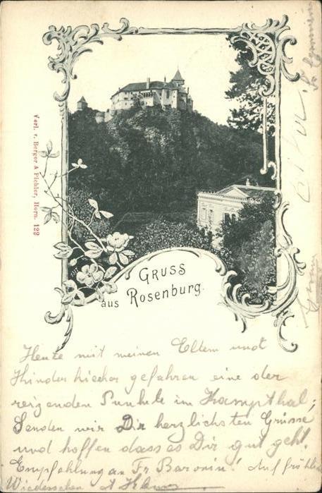 Rosenburg Mold Schloss Kat. Rosenburg Mold