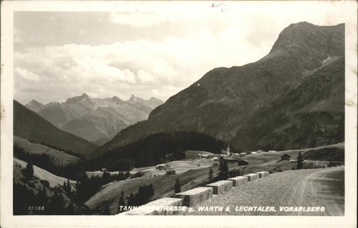 wz55196 Warth Vorarlberg Vorarlberg Lechtaler  Kategorie. Warth Alte Ansichtskarten