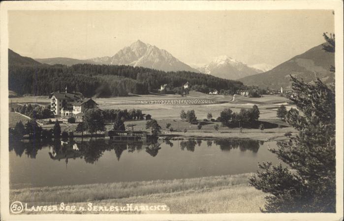 Lans Tirol Serles See Kat. Lans