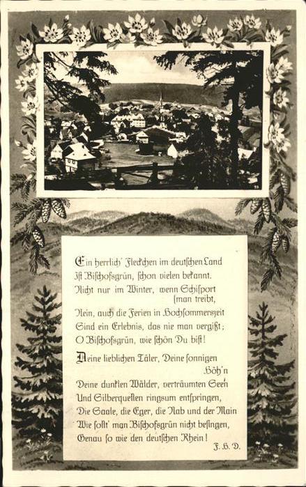 Bischofsgruen Gesamtansicht Gedicht Kat. Bischofsgruen