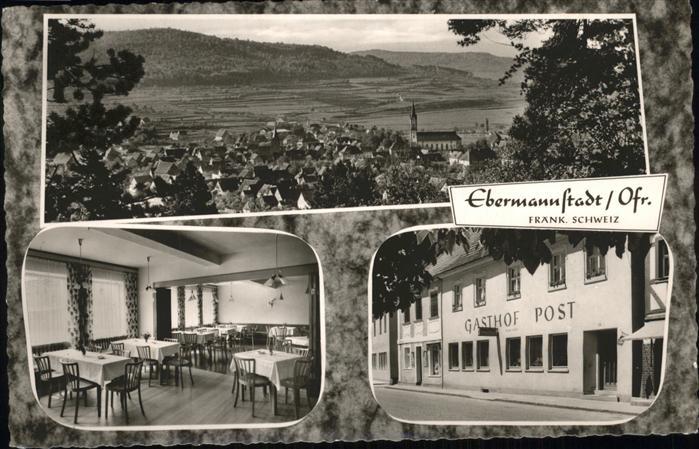 Ebermannstadt Gasthof Post Kat. Ebermannstadt