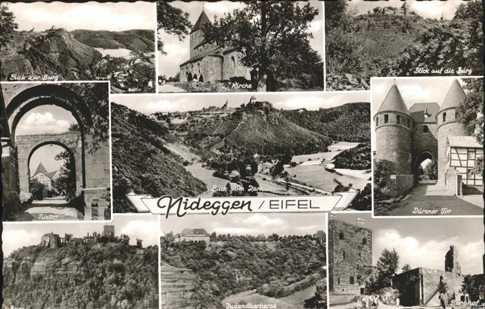 Nideggen Burg Kirche Duerener Tor Nixtor Jugendherberge Kat. Nideggen