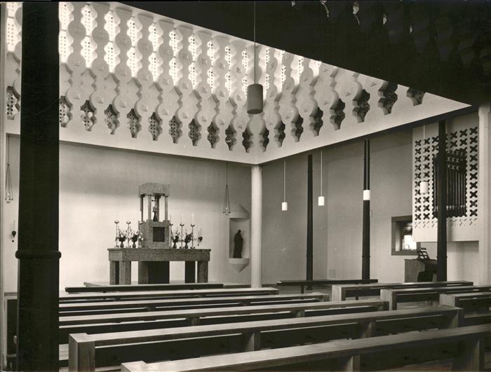 Schildgen Kath. Pfarrkirche Herz Jesu Innenansicht Kat. Bergisch Gladbach