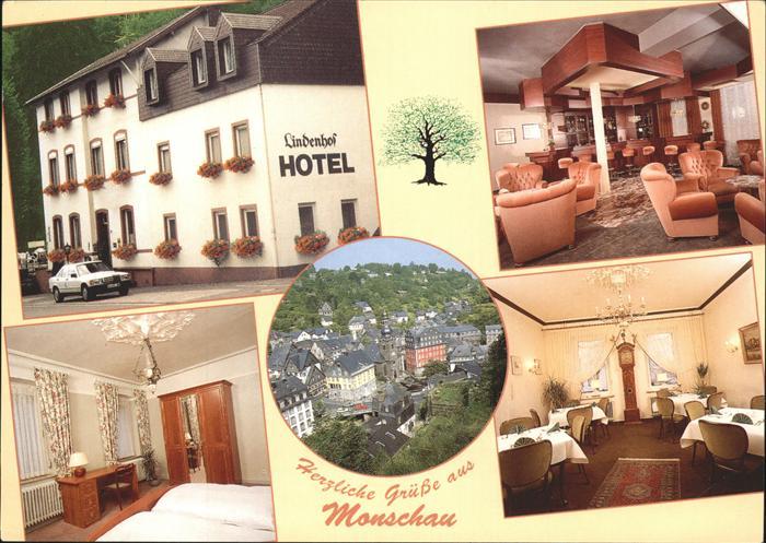 Monschau Hotel Lindenhof Teilansciht Monschau Kat. Monschau
