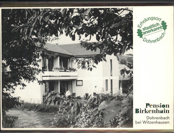 Dohrenbach Pension Birkenhain Kat. Witzenhausen