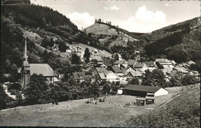 Sieber Teilansicht Sieber Kirche Kat. Herzberg am Harz