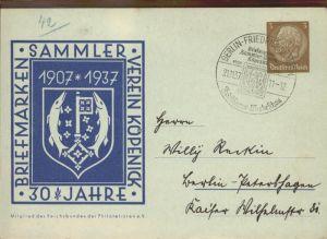 Berlin 30 Jahre Briefmarken Sammlerverein Koepenick Ganzsache Kat. Berlin