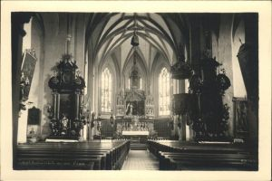 Taufkirchen Pram Kirche Innen Altar Kat. Taufkirchen an der Pram