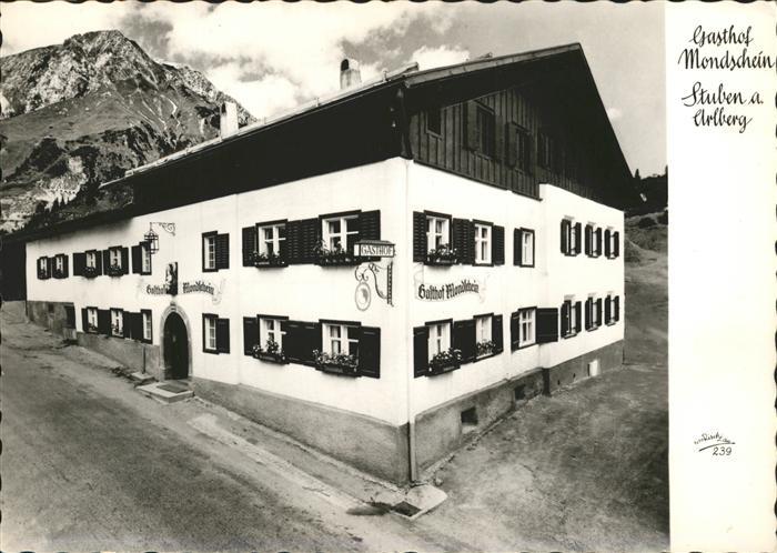 Stuben Vorarlberg Gasthof Mondschein Kat. Kloesterle
